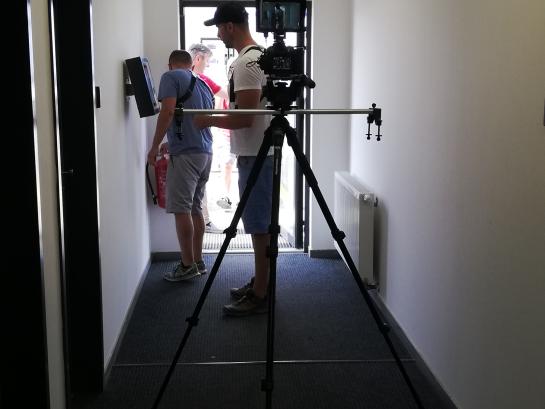 Adam filming