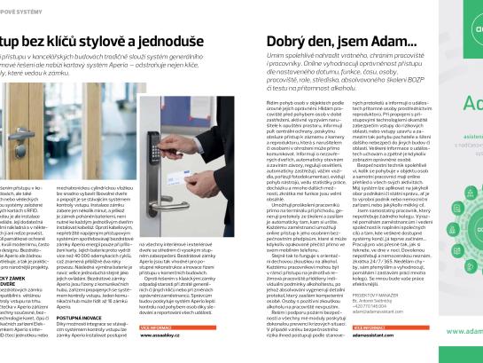 Adam Security magazín článek